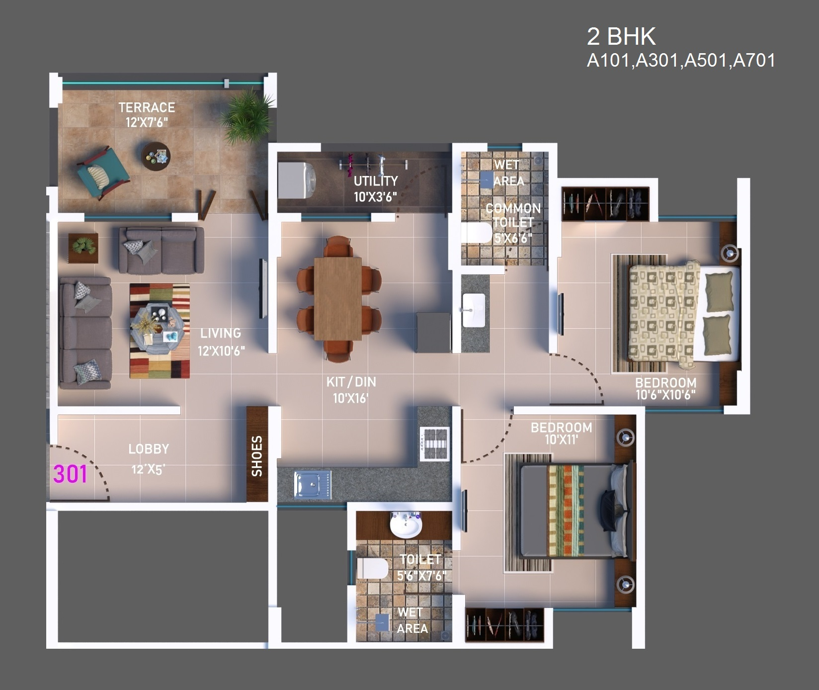 2 BHK Option 1