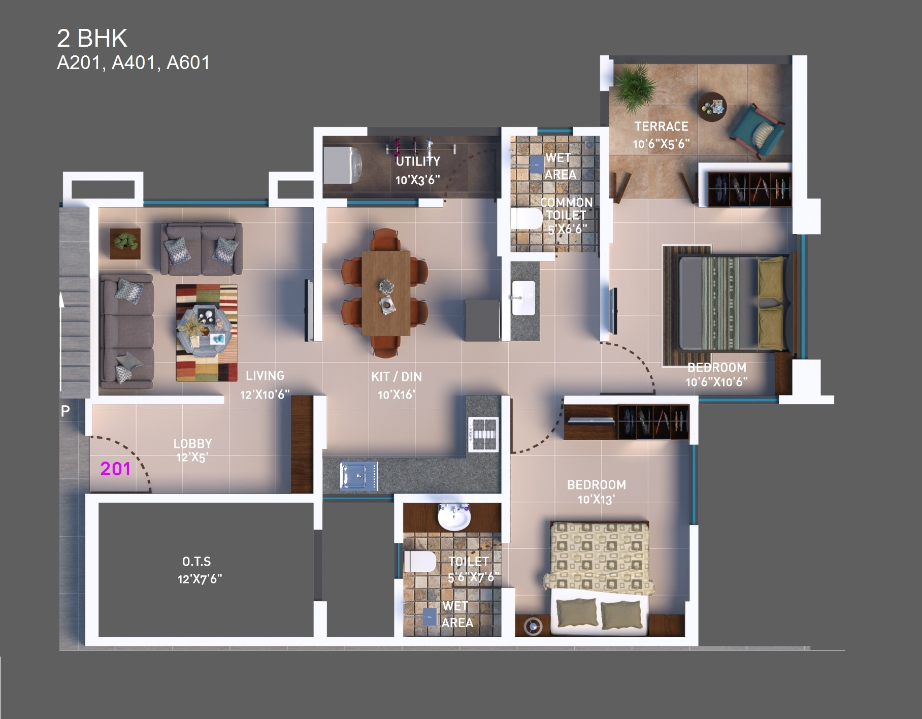 2 BHK Option 2