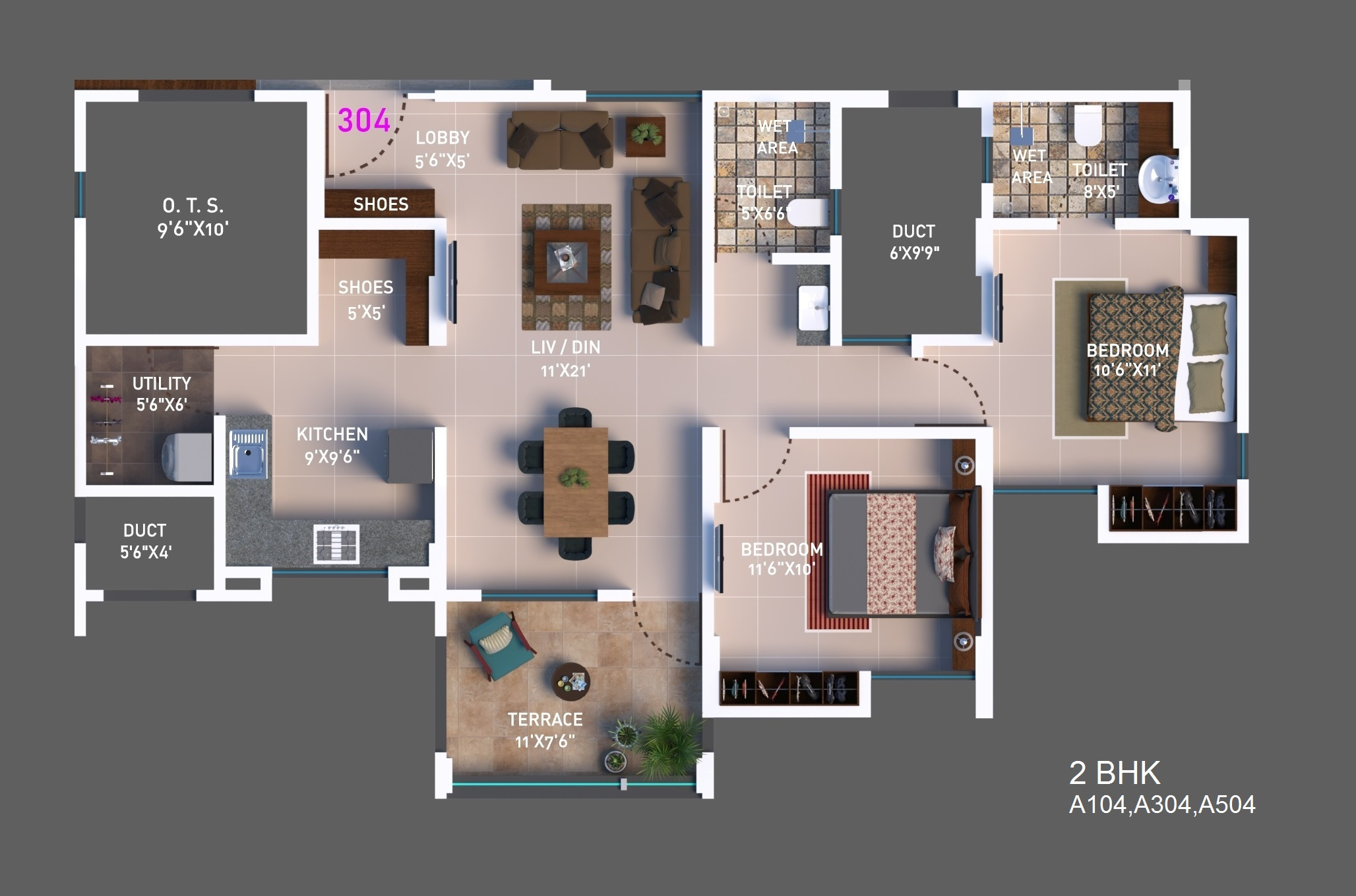 2 BHK Option 3